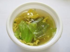 レタスたまごスープ